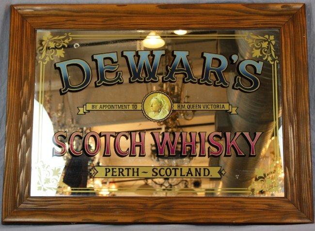 Dewar S Scotch Whisky Pub Mirror Lot 143