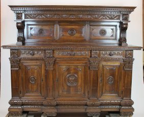 Italian Renaissance Style Sideboard With Fluted