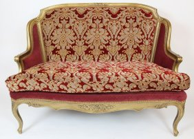 Ej Victor Louis Xv Style Curved & Upholstered Settee