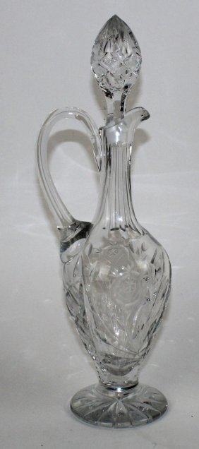 Crystal Wine Decanter With Handle And Stopper