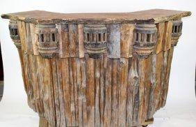 Rustic Log And Wagon Wheel Front Bar