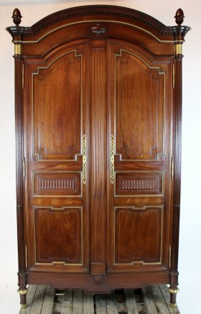 French Louis Xvi Arch Top Armoire In Mahogany