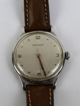 Vintage Jaeger Lecoultre Wrist Watch With Leather Band