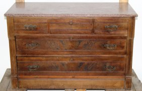 Eastlake 3 Over 2 Chest With Marble Top
