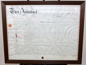 Framed English Land Indenture