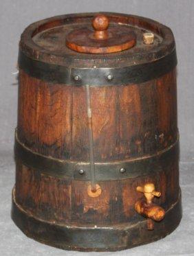 Antique French Wooden Vinegar Dispenser