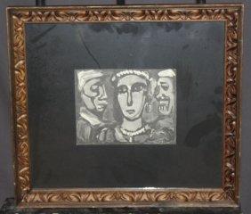 """Georges Roualt Engraving """"les Visages"""""""