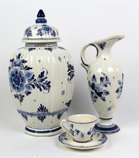 Assorted Lot Delft Blue & White Porcelain