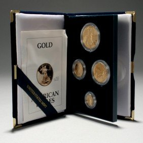 U.S. 1993 Gold Bullion Coins Proof Set.