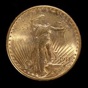 United States $20 Gold Coin, 1911-S, AU.