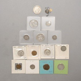 Collection Of Sixteen U.S. Coins.