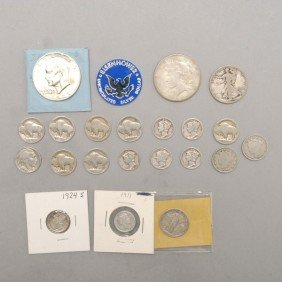 Collection Of 21 United States Silver Coins.