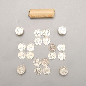 United States Silver Quarters, 1942-1964.