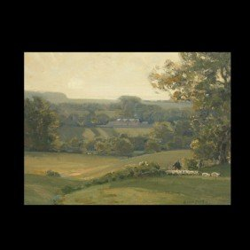 SIR ALFRED EAST, Green Rolling Hills, Oil