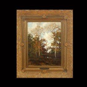 ARNOLD MARC GORTER, An Autumn Landscape, Oil