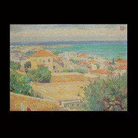 """Wilhelm Wachtel """"Haifa"""" Oil"""
