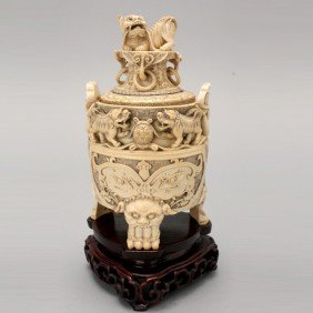 A Carved Ivory Censer*, Early 20th Century