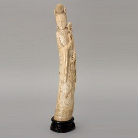 An Ivory Beauty* Late Qing