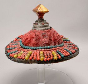 A Lacquered Tulku Hat, Early 20th Century