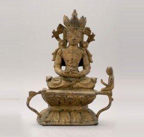 A Bronze Figure Of Amitayus