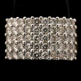DIAMOND, 14K YELLOW AND WHITE GOLD RING.