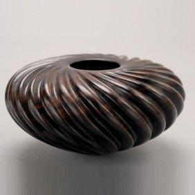 William Hunter Miniature Turned Wood Fluted Bowl
