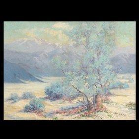 """S Kelly """"Desert Landscape"""" Oil"""