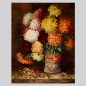 "Josephine Capwell ""Chrysanthemums"" Oil"