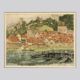 TANNA KASIMIR-HOERNES, Hirshorn, Color Etching
