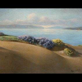 """WILLARD ELMER WORDEN  """"Coastal Scene"""""""