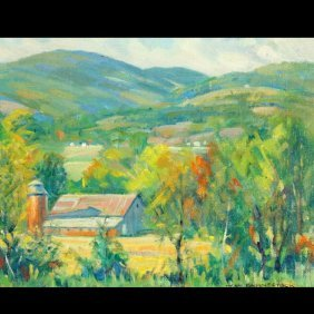 "WALLACE FAHNESTOCK  ""Summer Hillside W/ Barn"""