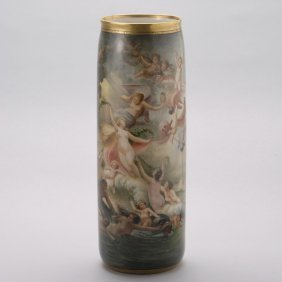 American Belleek Porcelain Vase: Birth Of Venus