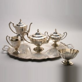 Sterling Tea And Coffee Service In Fairfax Patter