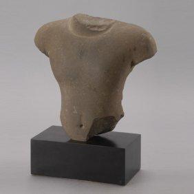 A Khmer Sandstone Torso, Angkor Period, 11th/12th