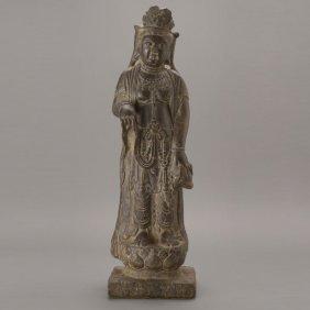 A Limestone Standing Guanyin, 16th/17th C