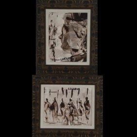 "Cucaro 2 Works ""Portrait & Bazaar"" Oil"