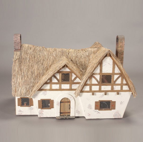 957 A Fully Furnished Thatched Roof Doll House Lot 957
