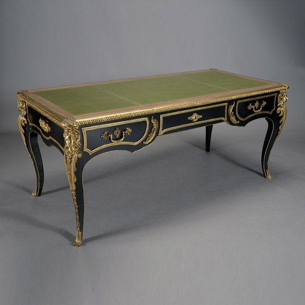 3200 louis xiv style bronze mounted bureau plat lot 3200. Black Bedroom Furniture Sets. Home Design Ideas