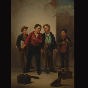 "NORA CHAESE   ""Shoe Shiners, 1884"""