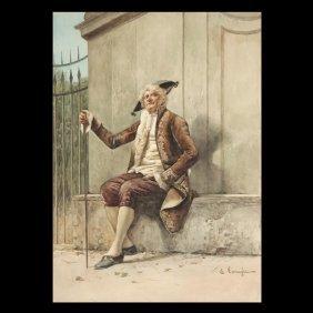 "ENRICO TARENGHI    ""A Gentleman Resting"""