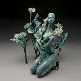"""JIANG TIE-FEING  """"Calla Lilies""""  Bronze"""
