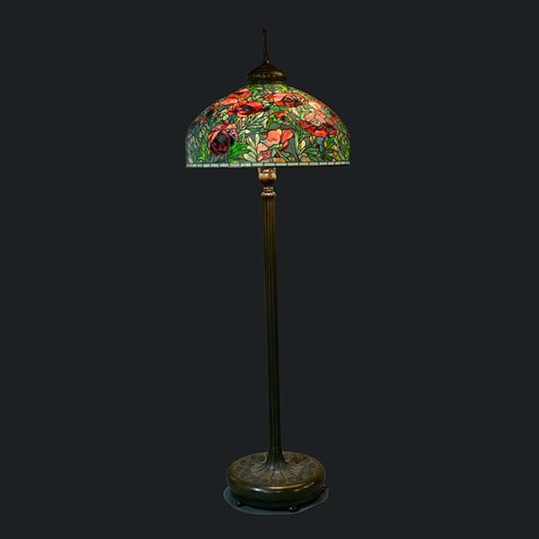 Tiffany Studios Oriental Poppy Floor Lamp : Lot 2050