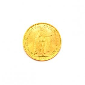 Hungary 1894 20 Korona Gold Coin