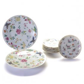 Eight Famille Rose Dishes, Late 19th Century
