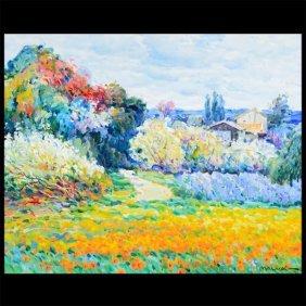 "Omar Malva ""landscape"" Oil On Canvas."