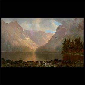 "Edwin Deakin ""yosemite"" Oil California Art"