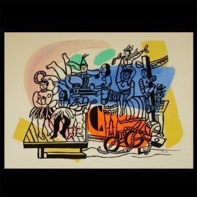 """Fernand Leger """"circus"""" Lithograph."""