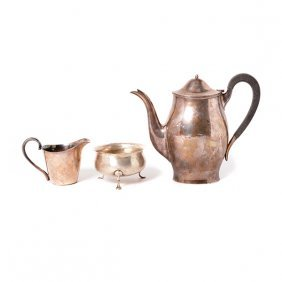 Three Sterling Silver Tea Articles