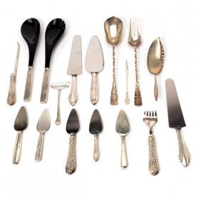 Group Of Sterling/sterling Handled Serving Utensils