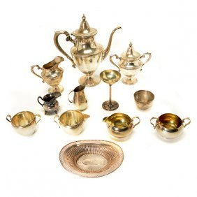 Art Craft Sterling Three Piece Coffee Service And A